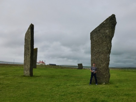 These might be the largest standing stones I've ever seen! They certainly tower over Micha.