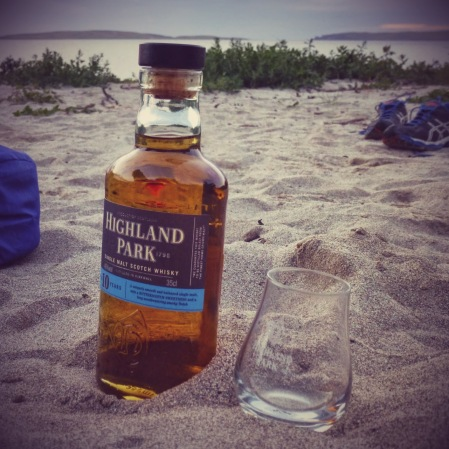 Careful: don't get sand in the whisky!
