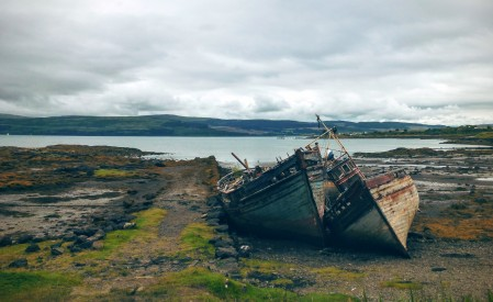 Rotting ships north of Salen
