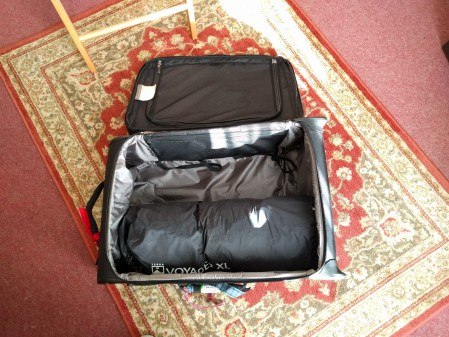 Packing for this year's VSS is turning out to be harder than usual. The tent takes up half the suitcase!