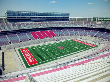 The *university* football stadium. Crazy