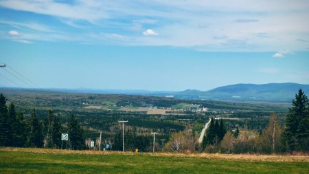 The view back down into Chatierville and Quebec
